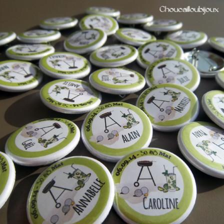 Badges personnalisés Anniversaire Matt - Barbecue & Mojito