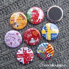 Badges-Magnets Personnalisés Anniversaire 30 ans