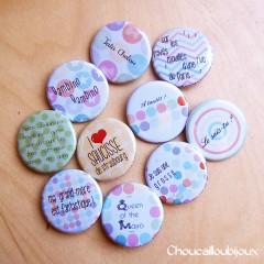 Badges Personnalisés Anniversaire Léa - Pois & Pastels