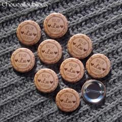Badges Personnalisés EVJF Lisa - kraft & Liberty