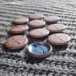 *Badges personnalisés EVJF Lisa - kraft & Liberty