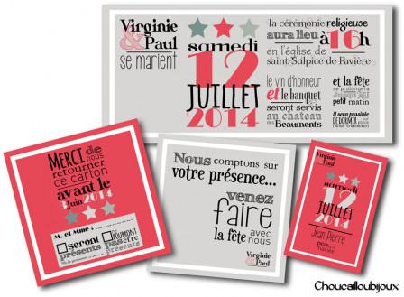 Faire-Part - Vintage & Letter Press