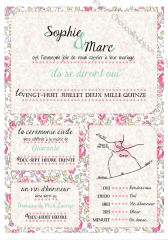 Faire-Part - Liberty Rétro & Romantique