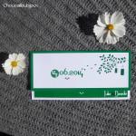 Faire-Part - Lampions Verts & Blancs