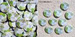 """Mariage """"Lampions Verts & Gris"""", badges personnalisés de Aurélie & Nicolas"""