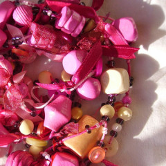 Sautoir Rose Princesse