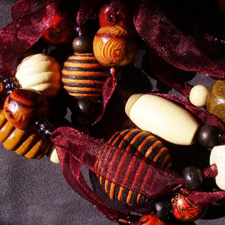 Sautoir Bordeaux Bali