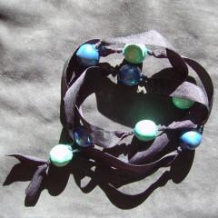 Sautoir Boule Bleu