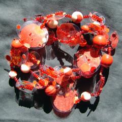 Sautoir Pastille Rouge