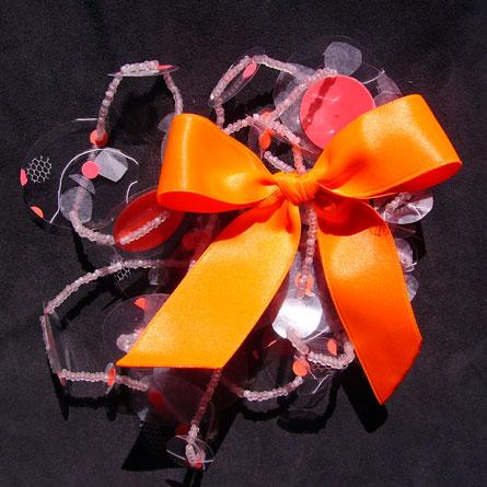 Sautoir Pastille Orange Fluo